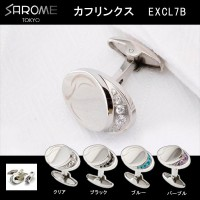 SAROME TOKYO カフリンクス EXCL7B クリア・EXCL7B-01