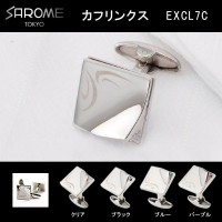 SAROME TOKYO カフリンクス EXCL7C クリア・EXCL7C-01