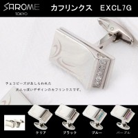 SAROME TOKYO カフリンクス EXCL7G クリア・EXCL7G-01